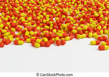 orange, capsule, toile de fond