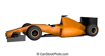 ORange car f1