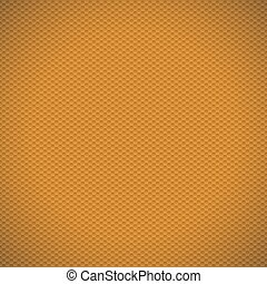 Orange carbon fiber texture background. Vector illustration