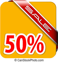 Orange card for big discount