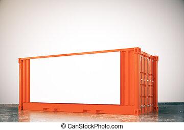 Orange cargo with billboard