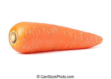 Orange carrot healthy vegetable isolate on white background