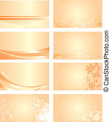 orange, carte affaires, fond