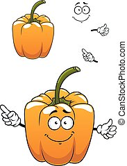 Orange cartoon bell pepper vegetable