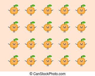 Orange cartoon pattern