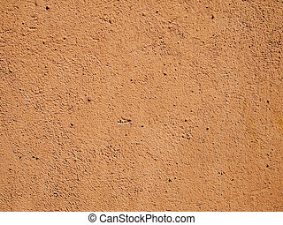 Orange cement wall - Terra cotta orange cement or stucco ...