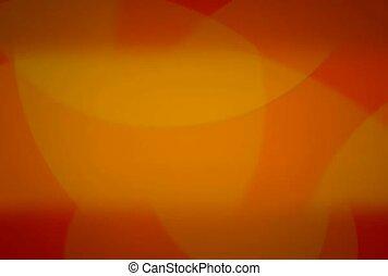 orange, cercles, chevaucher, jaune