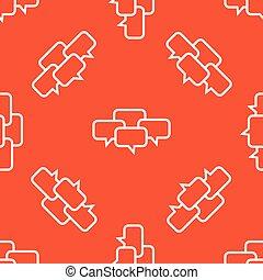 Orange chat conference pattern