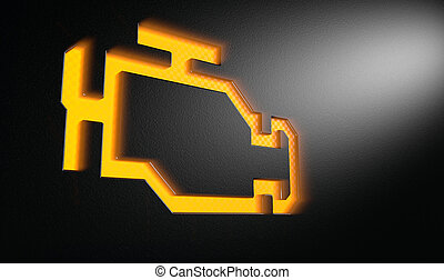 Orange Check Engine Indicator Dash Light - An extreme ...