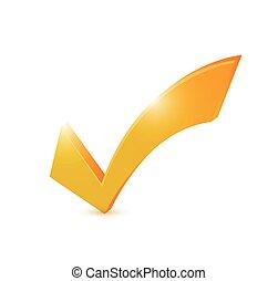 orange check mark illustration