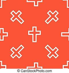 Orange christian cross pattern