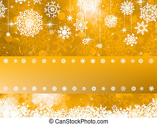 Orange Christmas background. EPS 8