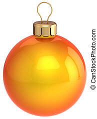 Orange Christmas ball bauble - Christmas ball orange and ...