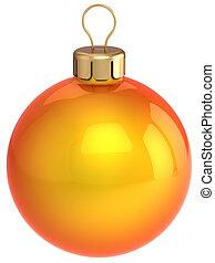 Orange Christmas ball bauble - Christmas ball orange and...