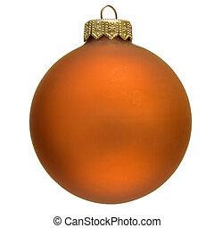 orange christmas ornament .