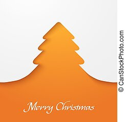 Orange christmas tree applique