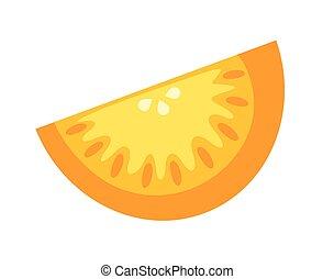 Orange Chunk Vector Illustration