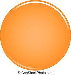 Orange circle button blank web internet icon
