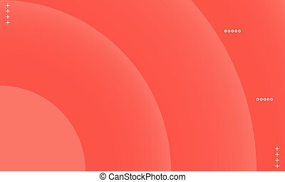 Orange circle gradient background.