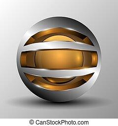 Orange circle sphere logo