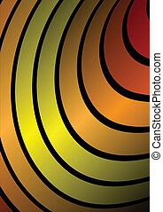 Orange circular modern background