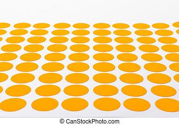 Orange Circular Stickers. - Orange Small Circular Stickers....