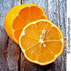orange, citrons