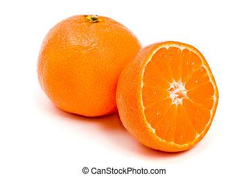 orange citrus clementine isolated over white