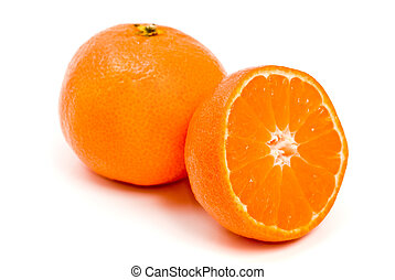 orange citrus clementine isolated over white
