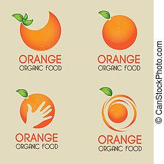 orange citrus fruit over beige background vector illustration