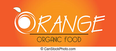orange citrus fruit over orange background vector illustration