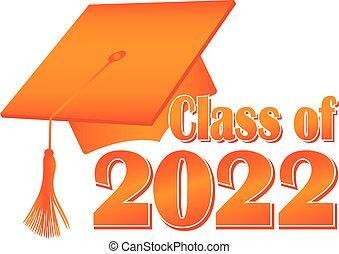 Orange Class of 2022 Graduation Cap