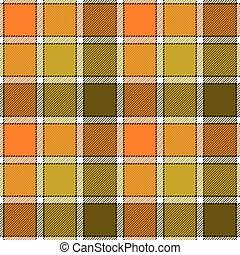Orange clay marsh check plaid seamless pattern