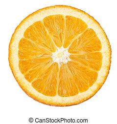 Orange closeup isolated