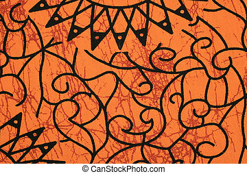 orange cloth pattern