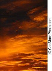 Orange Clouds at sunrise.