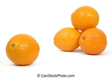 Orange clouseup and pile
