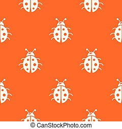 orange, coccinelle, vecteur, modèle