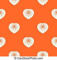 orange, coeur, vecteur, parapluie, modèle