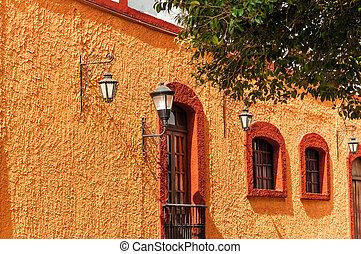 Orange Colonial Wall