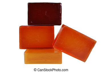 soap - Orange color, beautiful scented soaps