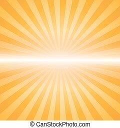 orange color burst background. Vector illustration