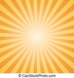 orange color burst. Vector.