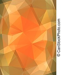 Orange color glass abstract background