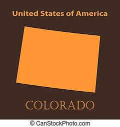 Orange Colorado map - vector illustration.