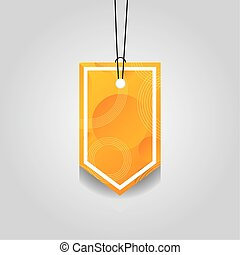 orange comercial tag with vibrant color vector illustration ...