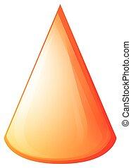 Orange cone on white
