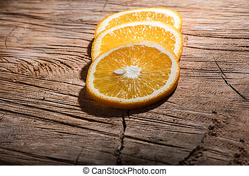 orange, conseil bois, tranches