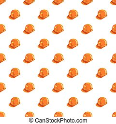 Orange construction helmet pattern seamless repeat in...