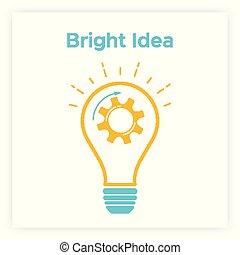 Orange contour gear lamp creative idea concept